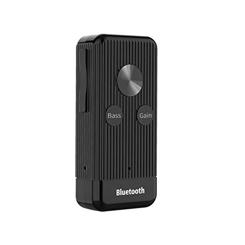 DUTTY Transmisor y receptor portátil Bluetooth 5.0 portátil, aptX de baja latencia, reducción de ruido eficiente, soporte para llamadas y conexiones multipunto, disfrute de una calidad de soni