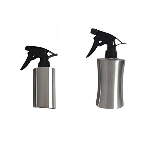 MagiDeal 2pcs Pulvérisateur à Pression en Acier Inoxydable Vaporisateur pour Arrosage Coiffure Ménage - 250ml+400ml
