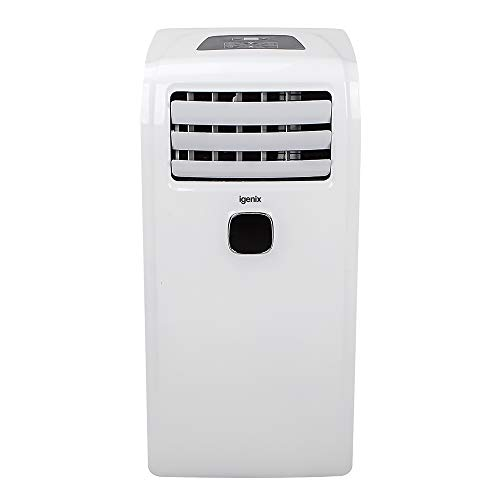Igenix IG9911 Portable Air Conditioner with Cooling, Fan & Dehumidifier, 3 Fan Speeds with Designated Sleep Mode, 24 Hour Timer & Remote Control, Exhaust Hose Supplied