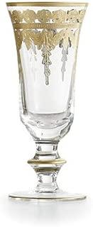 Arte Italica Vetro Gold Flute Glass 7.5 in h x 3