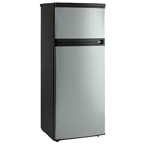 cheap Avanti RA7316PST 2-door apartment refrigerator, black platinum plated