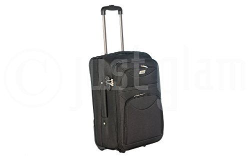 Trolley da cabina cm.55 valigia tessuto 2 ruote compatibile voli lowcost come easyjet rayanair art 1222 / nero