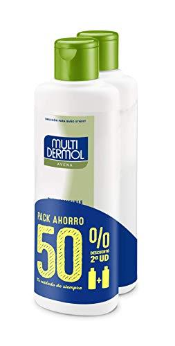 Multidermol 8425091711598 Gel de Avena para la Ducha - Paquete de 2 x 750 ml, Pieles Sensibles, PH Neutro, Calma y Suaviza, Avena Al 100%, Total: 1500 ml