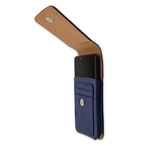 caseroxx Handy Tasche Outdoor Tasche für Yota Devices YotaPhone 3, mit drehbarem Gürtelclip in blau