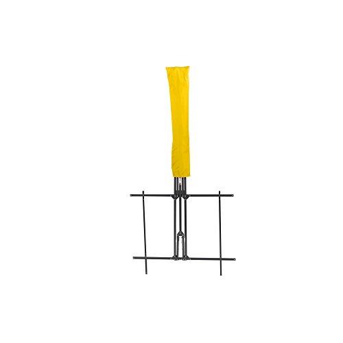 Siena Garden Balkonschirm Twinsoll, L 220 x B 150cm, Gestell: Stahl, pulverbeschichtet in anthrazit, Bezug: Polyester, 180g/m² in gelb, Lichtschutzfaktor: UPF 50+