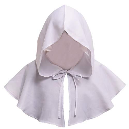 DOLDOA Hut Damen Sommer,Männlicher und weiblicher Erwachsener Mantel-Retro- Sonnenschutz-Hut (Weiß)