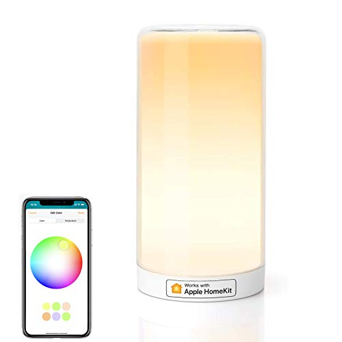 Meross Smart WiFi Table Lamp, Bedside Lamp, Support Apple HomeKit, Siri, Amazon Alexa, Google Assistant and SmartThings, Tunable White and Multi-Color, Touch Control, Voice and APP Control