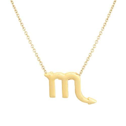 BGPOM Halskette Sommer Zwölf Sternbild Halskette Sternbild Anhänger Karte Schlüsselbeinkette, Skorpion Gold