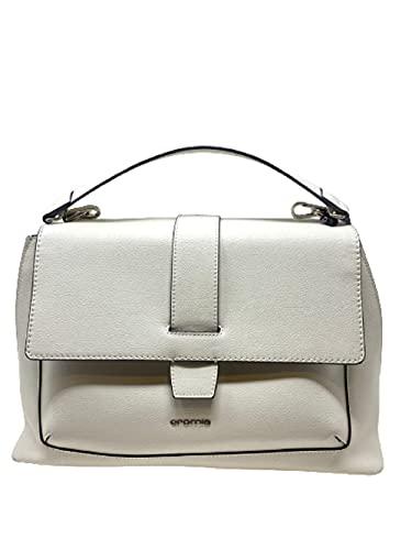 Cromia Handtasche mit Schultergurt aus Leder Art1404212 weiß