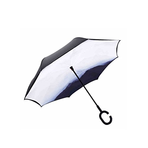 XiuHUa Car Umbrella Man Volwassene Vrouw Lange Handvat Reverse Paraplu Oversized Versterkte Parasol Vouwparaplu UV Bescherming paraplu standaard