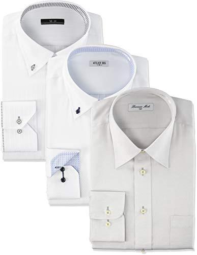 [アトリエサンロクゴ] ワイシャツ 3枚セット おまかせセット イージーケア 形態安定 長袖Yシャツ メンズ val-fux-3fix val3fix-long 日本 LL (日本サイズ2L相当)