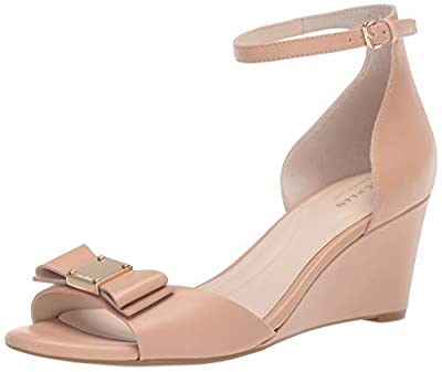 Cole Haan Women's TALI Grand Bow Wedge Sandal (65MM) Mule, ch Nude Leather