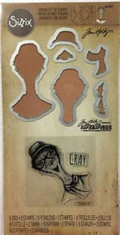 Sizzix Tim Holtz Alterations Stamp & Die, Hipster Ostrich