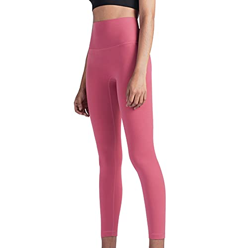 JNWBFC Leggings para Mujer Pantalones De Yoga Cómodo Ajuste De Forma Ajustado Deportes Correr Fitness Agradable a La Piel Desnudo Cintura Alta Melocotón Cadera