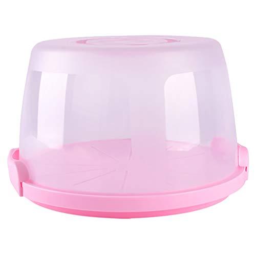 Hemoton Tortenglocke mit Haube und Tragegriff Kunststoff Runder Tortenhaube Kuchen-Transportbox Kuchenbehälter 8 Zoll