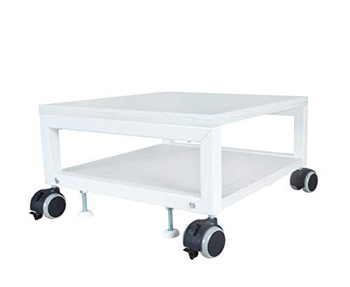 NEUN WELTEN Multi Trolley Holz 40 x 40 x 22,5 cm (L x B x H), Untertisch-Geräteständer Druckerständer (Model 1)