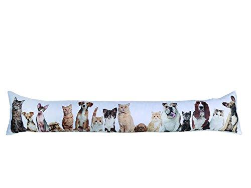 Out of the blue - Burlete Cortavientos con diseño «Gatos y Perros», Color Blanco