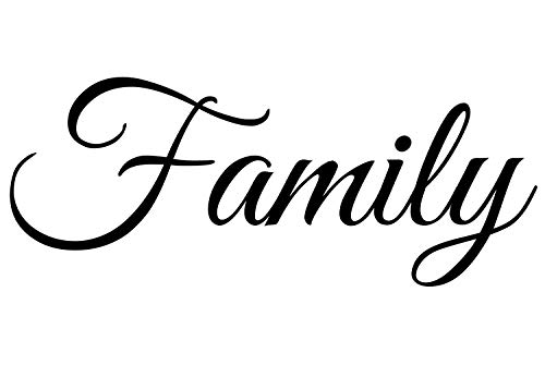 Family Decal   Large Wall Quotes Sticker (22 x 9 inches)   Vinyl Wall Art Letters   Home Accent and Decor Quote Saying   Removable Large Word Lettering for Living Room Dining Room Kitchen