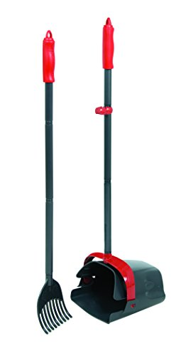Petmate Clean Response Swivel Bin & Rake Pooper Scooper, Plastic Handle