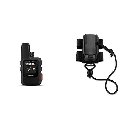 Garmin InReach Mini, Lightweight and Compact Satellite Communicator, Black & Backpack Tether Accessory for Garmin Devices