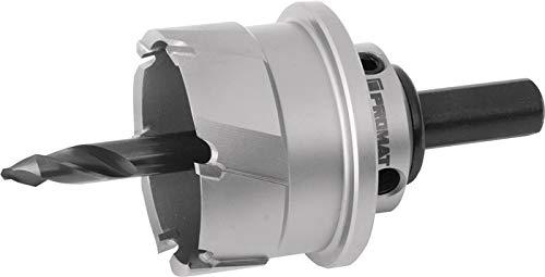 PROMAT Sierra de corona D. 74 mm de corte, 20 mm de diámetro, con broca y muelle PROMAT, 74 mm de profundidad de corte 20 mm, con equipamiento HM