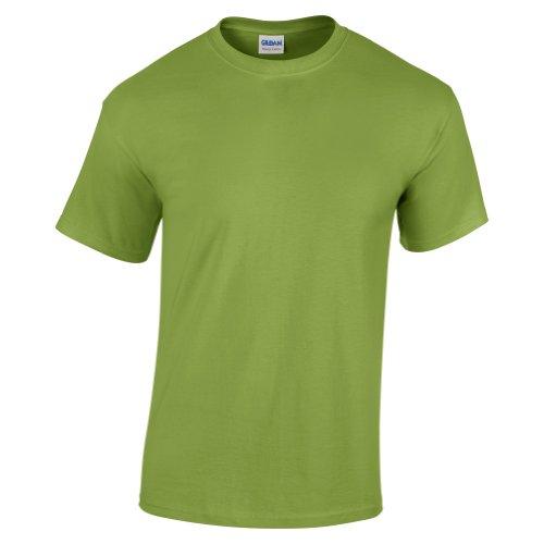 Gildan - Camiseta básica de manga corta Unisex con algodón grueso Niños Niñas - Verano/Calor (Pequeña (S)/Verde kiwi)