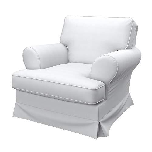 Soferia Funda de Repuesto para IKEA BARKABY sillón, Tela Elegance White, Blanco
