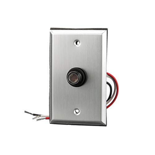 Woods 59409WD Outdoor Hardwired Post Eye Light Control and Wall Plate, Metallic Finish,Silver