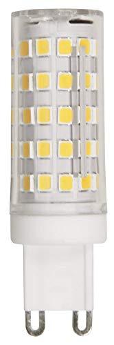 McShine - Bombilla LED con casquillo de patillas (G9, luz blanca cálida, 3000 K, 6 W)
