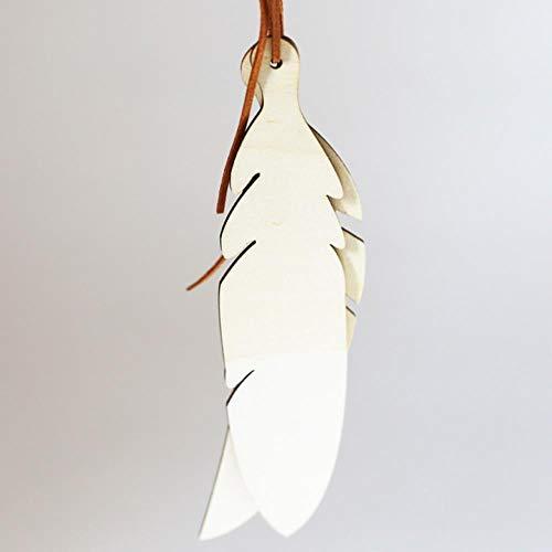 Nordic stijl houten veer tipi opknoping hanger met touw babykamer muur opknoping decor spelen tent decoratie fotografie rekwisieten, wit, 230x48mm