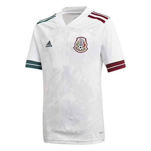 Adidas Jersey Oficial Selección Mexicana Visitante 2020 para Hombre, Color Blanco, Grande.