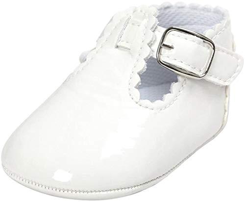 Logobeing Bebe Niñas Zapatos de Vestir Antideslizante Suela Blanda Primeros Pasos para Recién Nacido Niña