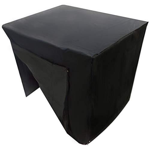 DaoRier Housse de balancelle 3 Places imperméable et Respirant en Tissu Oxford Noir, Housse pour Balancelle,Couverture pour Balançoire de Jardin, 225 x 155 x 150cm