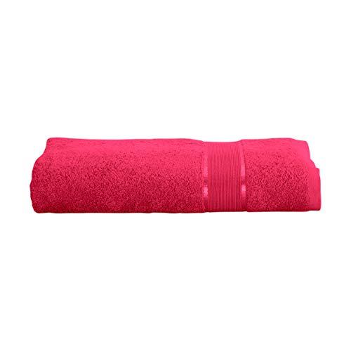 Mixibaby Toalla de mano, toalla de invitados, toalla de ducha, toalla de sauna, manopla de baño, juego de ahorro de algodón, 100% algodón, borgoña, 2 Stück Duschtuch 70x140cm