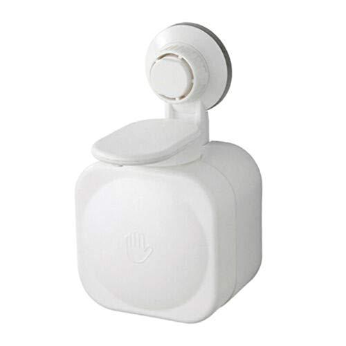 FeiliandaJJ Seifenspender - Saugnapf-Design,Kein Bohrbedarf Wall Mounted Wasserdicht Seifenspender Kunststoff Berührungslos Schaumseifenspender Desinfektionsmittel Spender für Badezimmer (Weiß)