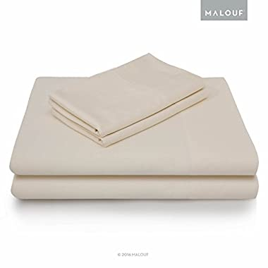 MALOUF 100% Rayon from Bamboo Sheet Set - 4-pc Set - King - Ivory