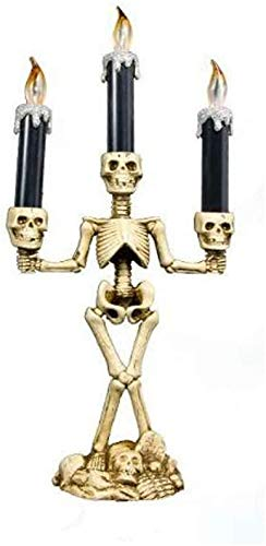 Christmas Candle Light, Skeleton Skull Candle Holder Light Flameless Lights Lamps Indoor Outdoor...