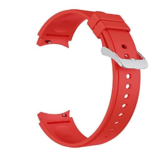 ZOUD Silikon-Armband für Samsung Galaxy Watch 4 Classic 46 mm 42 mm Ersatz-Armbänder für Galaxy Watch 4 44 mm 40 mm gebogenes Ende, Sportarmbänder