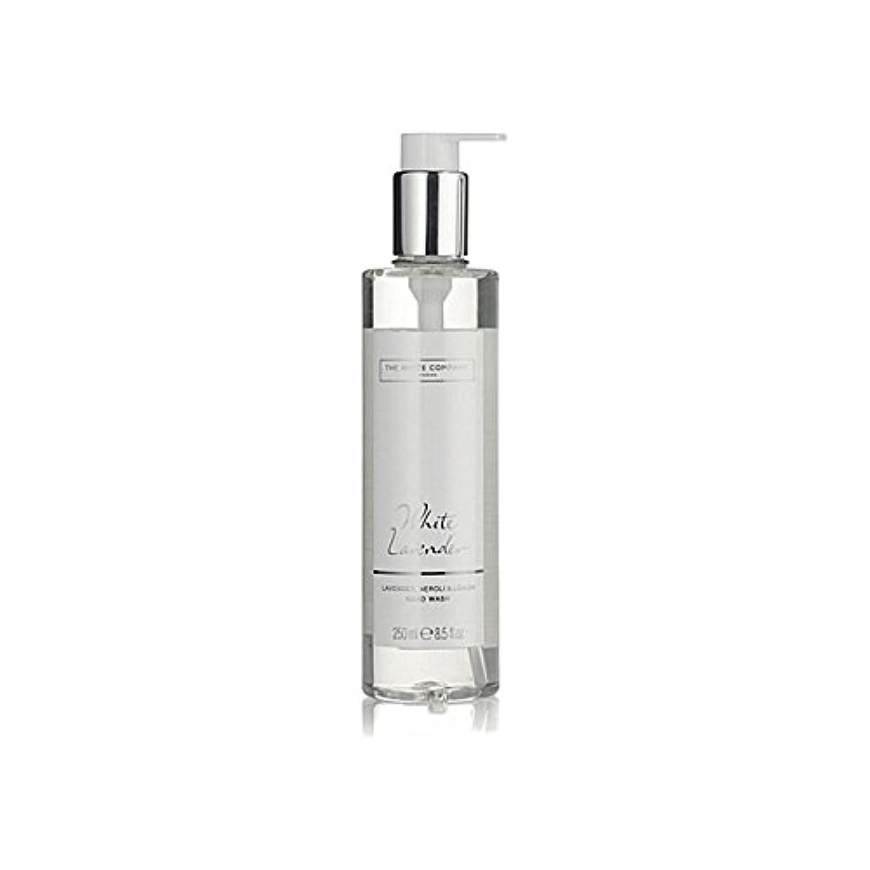 遠足解読する行商人白同社白ラベンダーハンドウォッシュ x4 - The White Company White Lavender Hand Wash (Pack of 4) [並行輸入品]