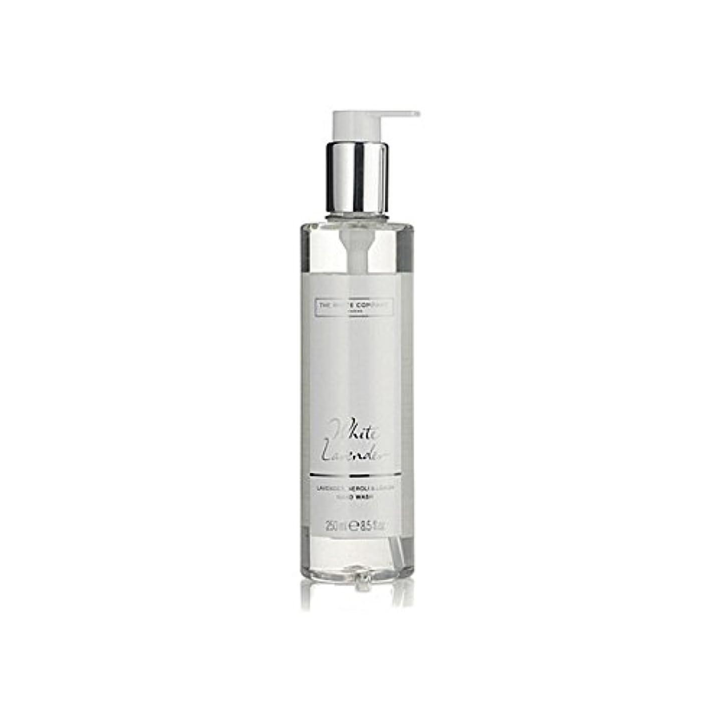 ファイバ増幅退化する白同社白ラベンダーハンドウォッシュ x4 - The White Company White Lavender Hand Wash (Pack of 4) [並行輸入品]
