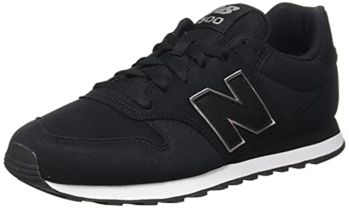 New Balance 500 Classic Zapatillas, Negro (Black PM1), 39.5 EU