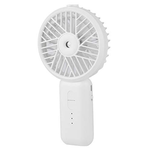 SONK Mini Ventola di nebulizzazione, Ventola Personale da Tavolo a 3 velocità per Escursionismo per Campeggio per Viaggi all'aperto(Bianco)