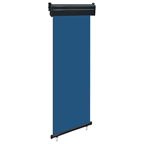 UnfadeMemory Toldo Lateral Vertical de Pared o en Techo para Jardín Balcón o Terraza,Protección Solar,Función de Autobloqueo (Azul, 60x250cm)