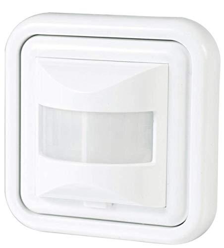 Détecteur de présence, capteur mural encastrable standard 160 Degres. Compatible LED Interrupteur automatique par mouvement 300 W Blanc 10 x 8 x 8 cm
