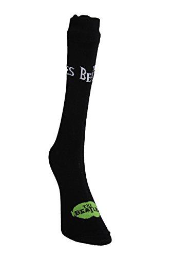 Beatles, Herren Strümpfe/Socken, 2er-Pack, Schwarz (47-50, Schwarz)