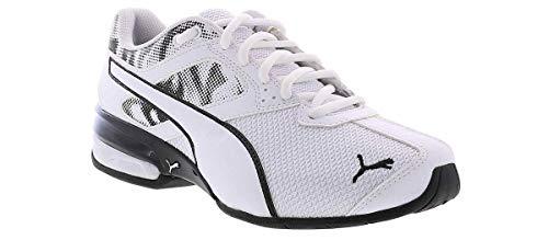 PUMA mens Tazon 6 Running Shoe, White/Black, 12 US