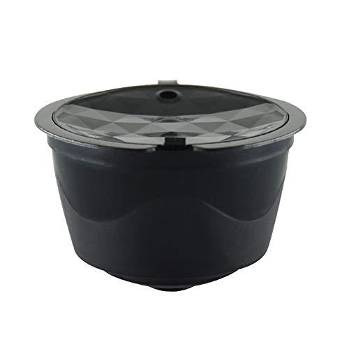 LUYANhapy9 juego de 3 cápsulas de café rellenables, reutilizables, de plástico de grado alimentario, cápsulas de café con filtro de espuma para Nescafe Dolce Gusto