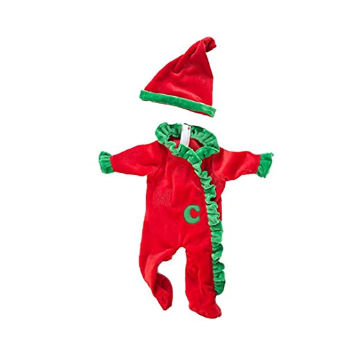 Duurzame Kerst Pop Kleding Creatieve Conjoined Pak 18 Inch Amerikaanse Meisje Poppen Kleding Accessoire Kids Vroege Onderwijs Speelgoed Pop Kerstjurk Outfit Rood