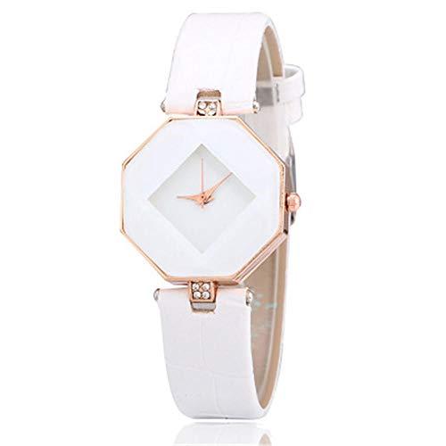 YZCKW Diamant Damenuhr Student Freizeitkleidung Zeiger Quarzuhr A-to Armbanduhr