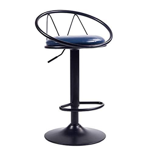 WWW-DENG barkruk verstelbare tafel stoelen | barkruk stoel met achterkant | Lifting bar hoge kruk | bureaudraaistoelen | 24 inch hoge zitting | PU-leer, kleur: D barkruk